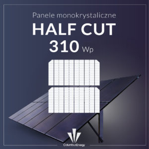 momokrystaliczne half cut perc 310 Wp