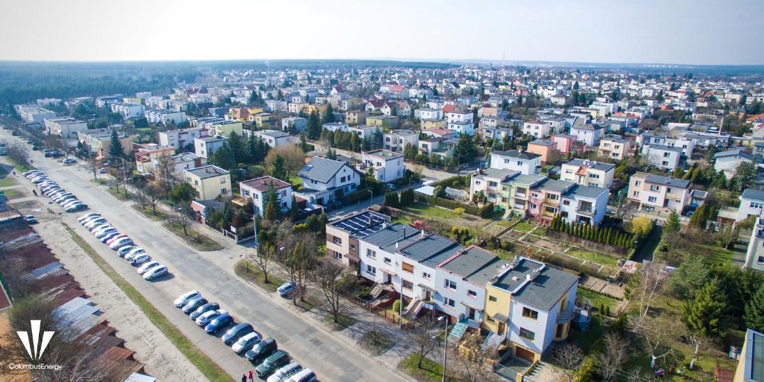 instalacja fotowoltaiczna w Bydgoszczy widziana z powietrza