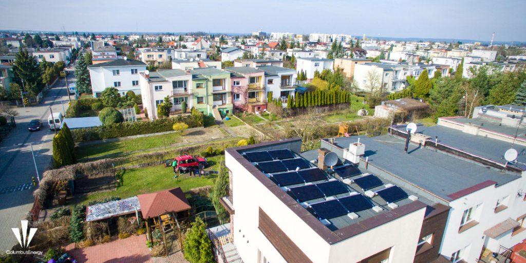 Panele fotowoltaiczne o mocy 4,13 kWp na prostym dachu