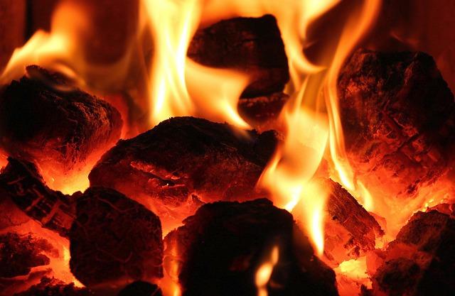 węgiel pali się